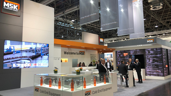 MSK Messestand Glasstec 2018
